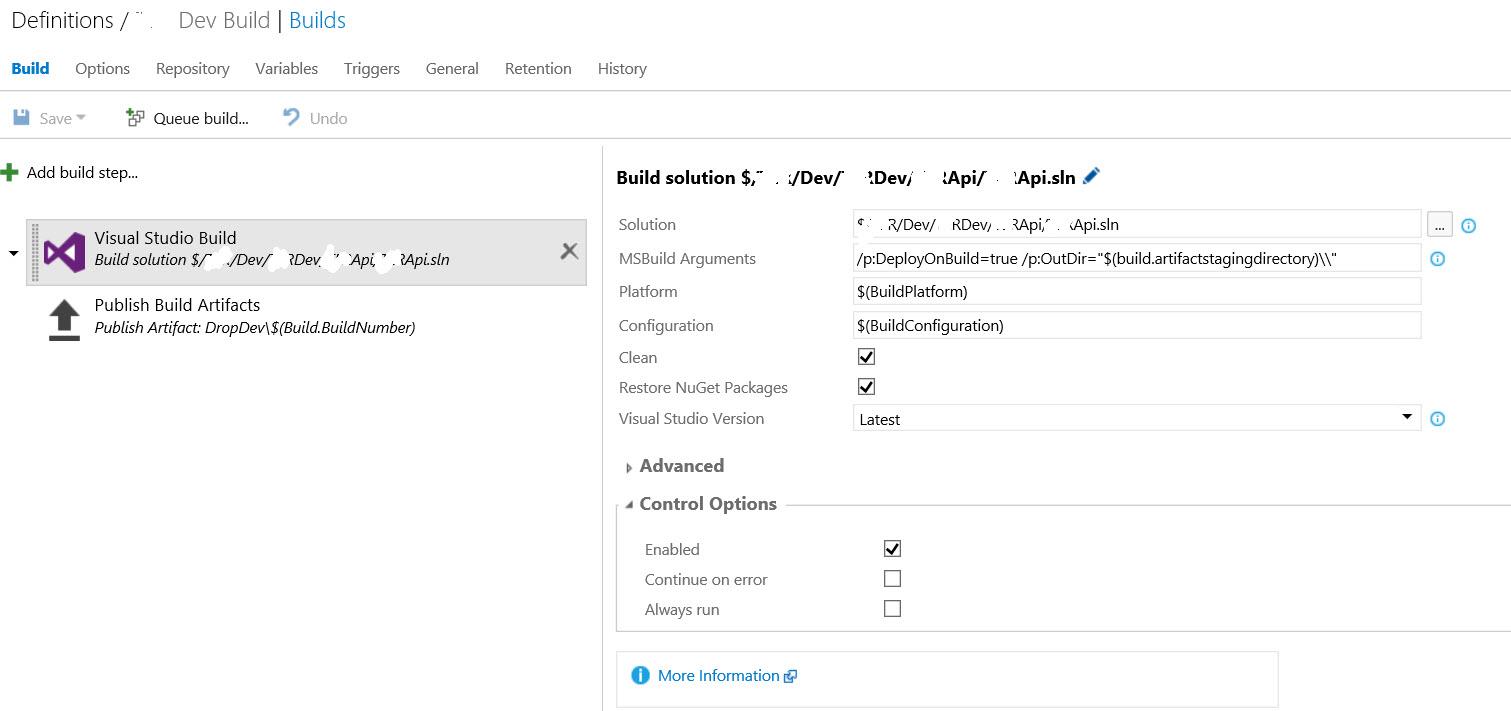 Deploy WebAPI with TFS Build Definition – InTheTechPit